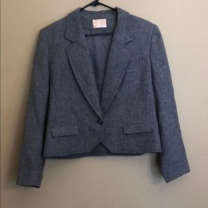Vintage Pendleton Gray Lined Blazer Size 16